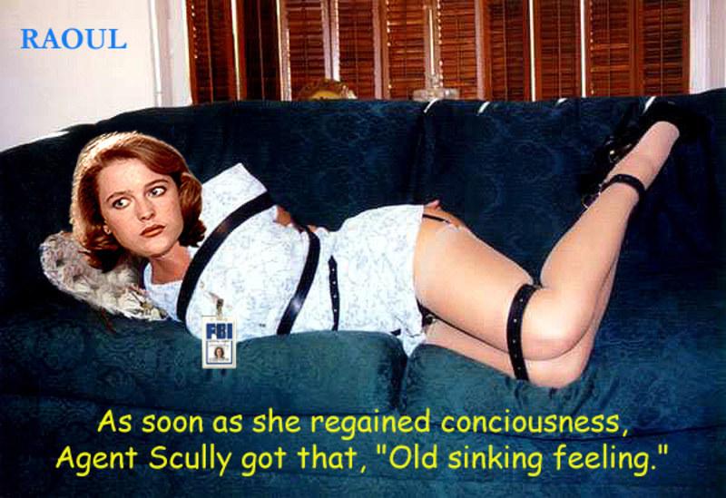 Не скромная Дана Скалли